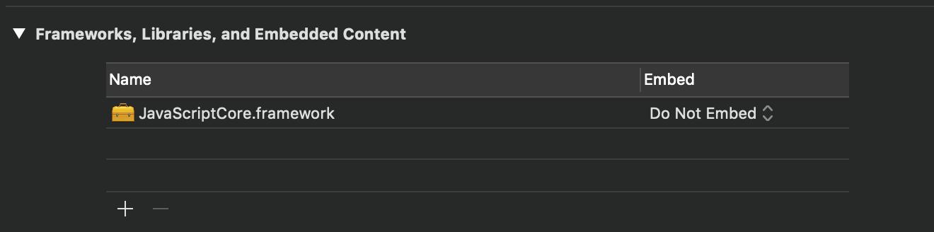 Ejemplo de captura de pantalla de Xcode antes después de eliminar enlaces