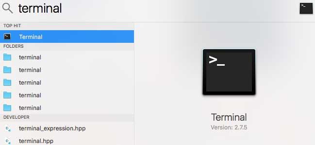 Abrir una terminal