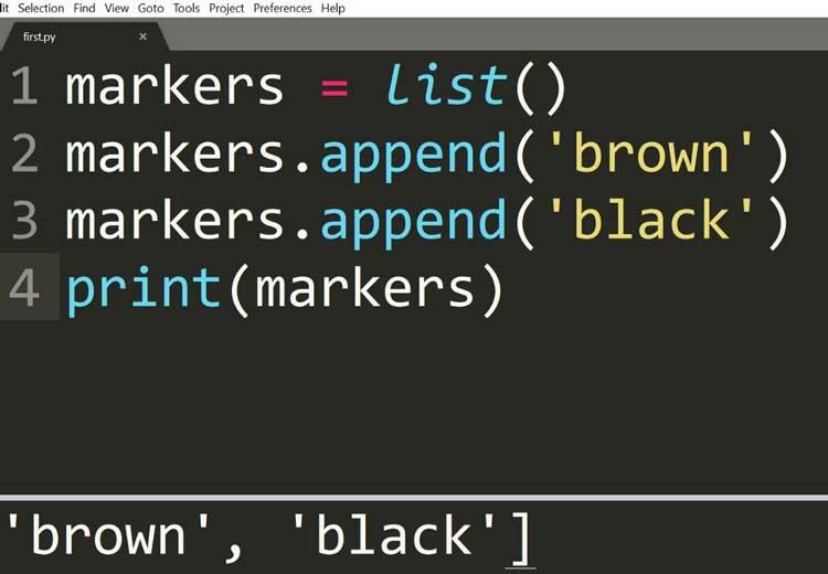 Agregar elementos a una lista vacía usando el método de agregar