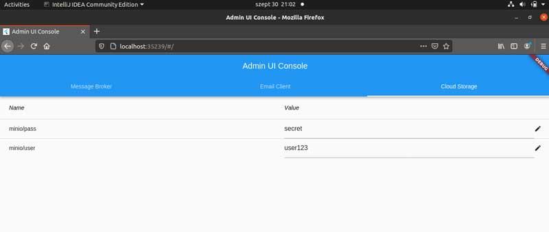 Captura de pantalla de una PC que muestra el valor persistente de la clave minio - usuario