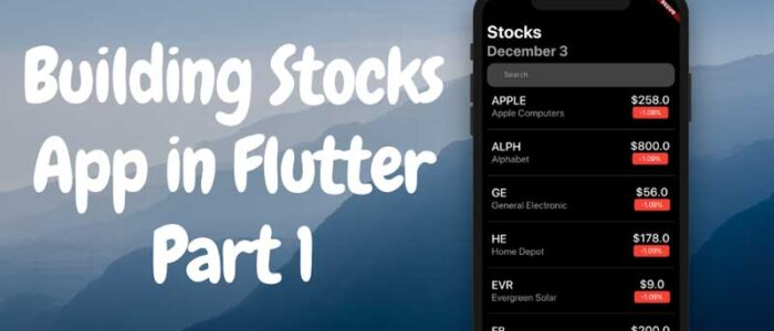 Cree la aplicación Apple Stocks con Flutter (Parte 1)