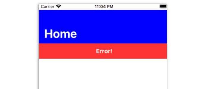 Cree una alerta de error deslizante hacia abajo con SwiftUI y animaciones