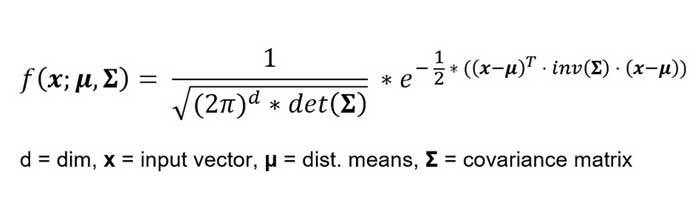 Distribución normal aplicada a vectores