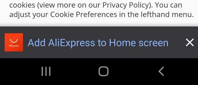 En una nota relacionada, banners de instalación de aplicaciones
