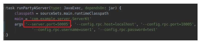 Especifica 50005 como puerto del servidor web