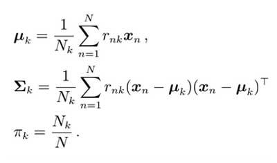 Fórmulas para M-step
