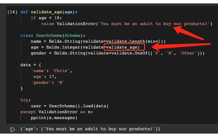 Funciones de validación personalizadas