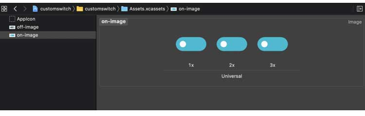 Importar imágenes de estado activado / desactivado