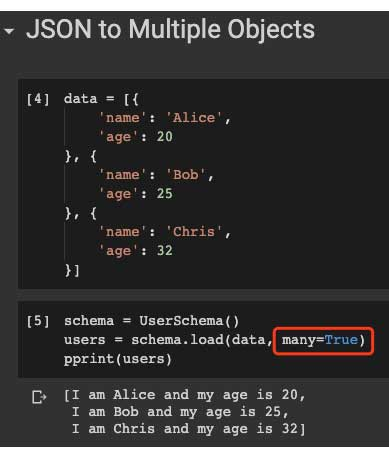Matriz JSON a varias instancias