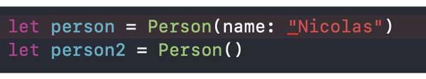 Método de inicialización válido