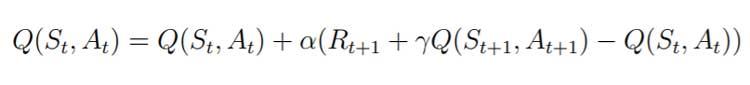 Otro algoritmo comúnmente aplicado se conoce como SARSA