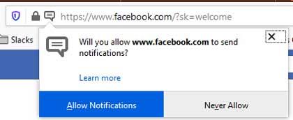 Un mal ejemplo de solicitud de notificaciones push en la primera carga