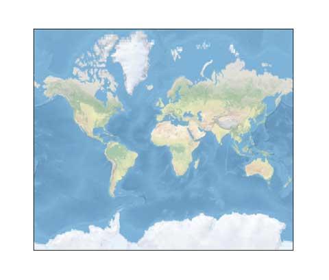 Un mapa del mundo con textura.