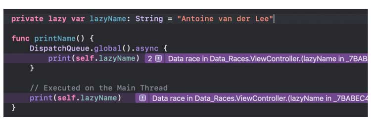 Una carrera de datos causada por una variable perezosa