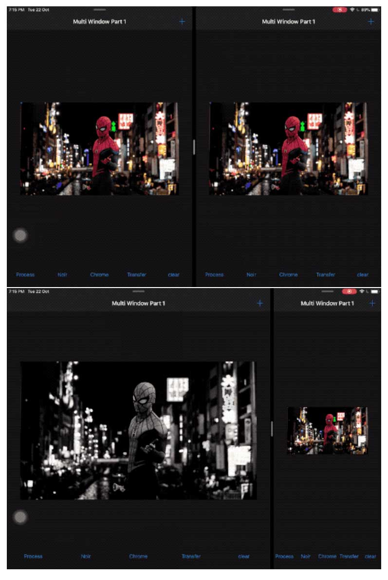 captura de pantalla de la aplicación iPad