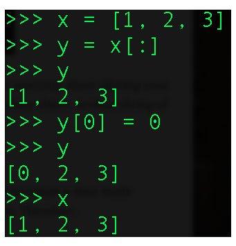 división de objetos inmutables